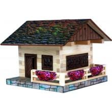 Walachia Dřevěná slepovací stavebnice Alpská chata
