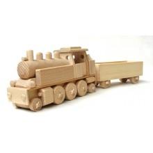 Ceeda Cavity - dřevěný vláček - Parní lokomotiva s vagónem