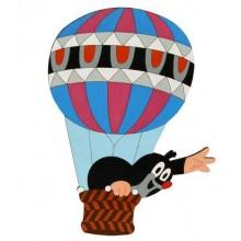 DoDo Velká dřevěná dekorace Krtek v balónu