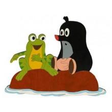 DoDo Velká dřevěná dekorace Krtek a žába