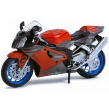 Welly - Motocykl Aprilia RSV1000R model 1:18 červený