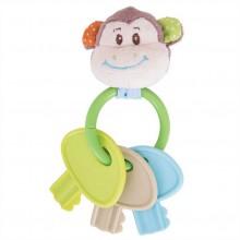 Bigjigs Baby Chrastítko kroužek s klíči opička Cheeky