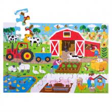 Bigjigs Toys Podlahové puzzle Farma 48dílků