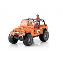 Bruder oranžové auto jeep s řidičem