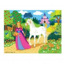 Bigjigs Toys dřevěné puzzle - Princezna - 48 dílků