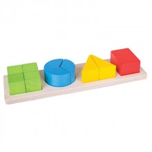 Bigjigs Toys Vkládací puzzle zlomky mix tvarů