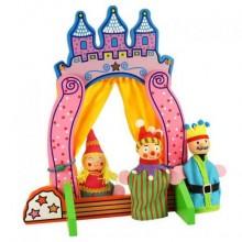 Bigjigs Toys Dřevěné divadlo s prstovými maňásky