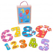Bigjigs Toys Dřevěné puzzle čísla 1-9