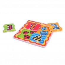 Dřevěné vkládací hračky Bigjigs - Moje první počítací puzzle