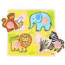 Bigjigs Toys Vkládací puzzle safari