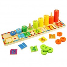 Bigjigs Toys Deska nasazování s čísly
