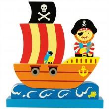 Bigjigs Toys magnetické puzzle pirátská loď
