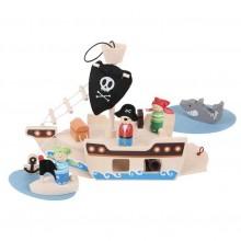 Dřevěná hračka - Hrací set Piráti