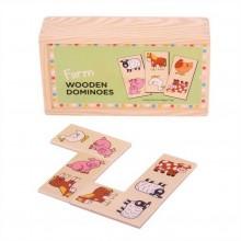 Bigjigs - dřevěné domino - Farma