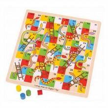 Bigjigs Toys dřevěná hra - Žebříky a hadi 2