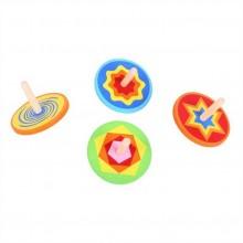 Bigjigs Toys - Dřevěná barevná káča