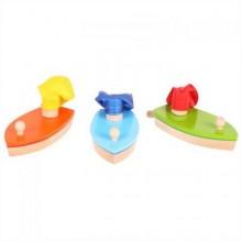 Bigjigs Toys Dřevěná loďka na balónkový pohon 1ks