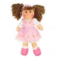 Bigjigs Toys Látková panenka Rose 28 cm