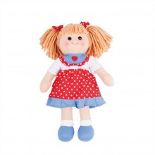 Bigjigs Toys Látková panenka Emily 34 cm