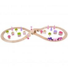 Bigjigs Rail vláčkodráha - Osmička pro princezny 40 dílů
