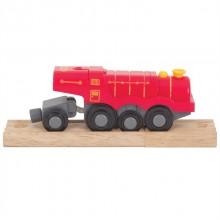 Bigjigs Rail elektrická lokomotiva červená Flying Scotsman