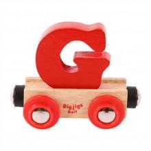 Bigjigs Rail vagónek dřevěné vláčkodráhy - Písmeno G