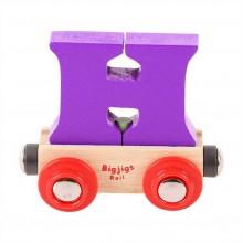 Bigjigs Rail vagónek dřevěné vláčkodráhy - Písmeno H