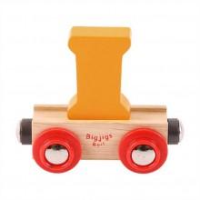 Bigjigs Rail vagónek dřevěné vláčkodráhy - Písmeno I