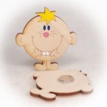Dřevěné magnetky - Kluk