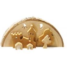 Vánoční dekorace - 3D Zámek vč. čajové svíčky