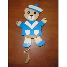 Dřevěný hýbací medvěd závěsný