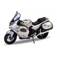 Welly - Motocykl Triumph Trophy (2002) model 1:18 stříbrný