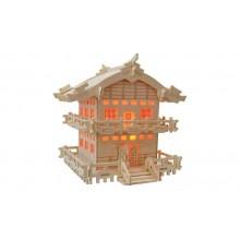 Dřevěné skládačky 3D puzzle - Japonská chatka MW110