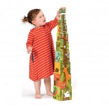 Petitcollage Věž z ABC kostek s lesními zvířátky