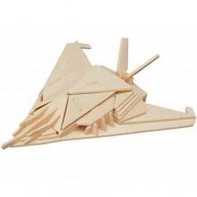 Woodcraft Dřevěné 3D puzzle neviditelná stíhačka