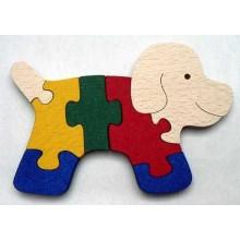 Makovský Dřevěné vkládací puzzle Pejsek bez rámu