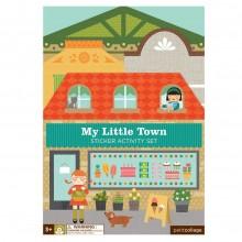 Petitcollage Znovupoužitelné samolepky se scénou Moje malé město