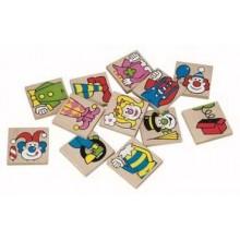 Dřevěné hračky - dřevěné hry - Pexeso klauni