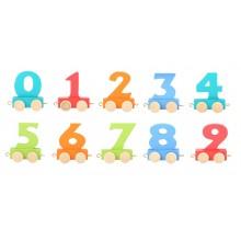 Small Foot Vagónek dřevěné vláčkodráhy barevné číslice 1 ks