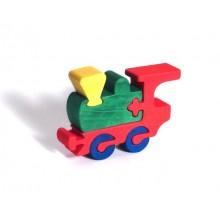 Dřevěné vkládací puzzle z masivu mašinka