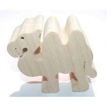 Fauna Dřevěné zvířátko velbloud