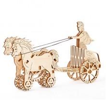 Wooden City 3D mechanické puzzle - Římský vůz