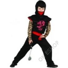 Kostým bojovník ninja 110 - 120 cm 4 -6 let