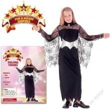 Šaty Královna pavouků 120 -130 cm