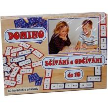 Hra Domino sčítání a odčítání do 10
