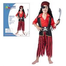 MADE Šaty na karneval Pirát 120-130cm