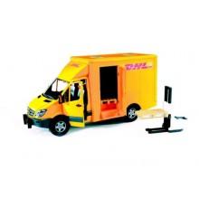 BRUDER Sprinter DHL s paletovým vozíkem