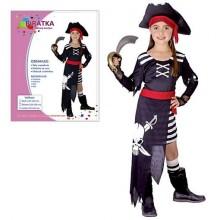 Šaty na karneval Pirátka 110-120cm