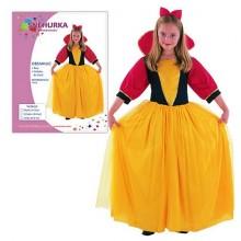 MADE Šaty na karneval Sněhurka 120-130cm