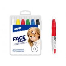 Barvy na obličej MFP 6ks set